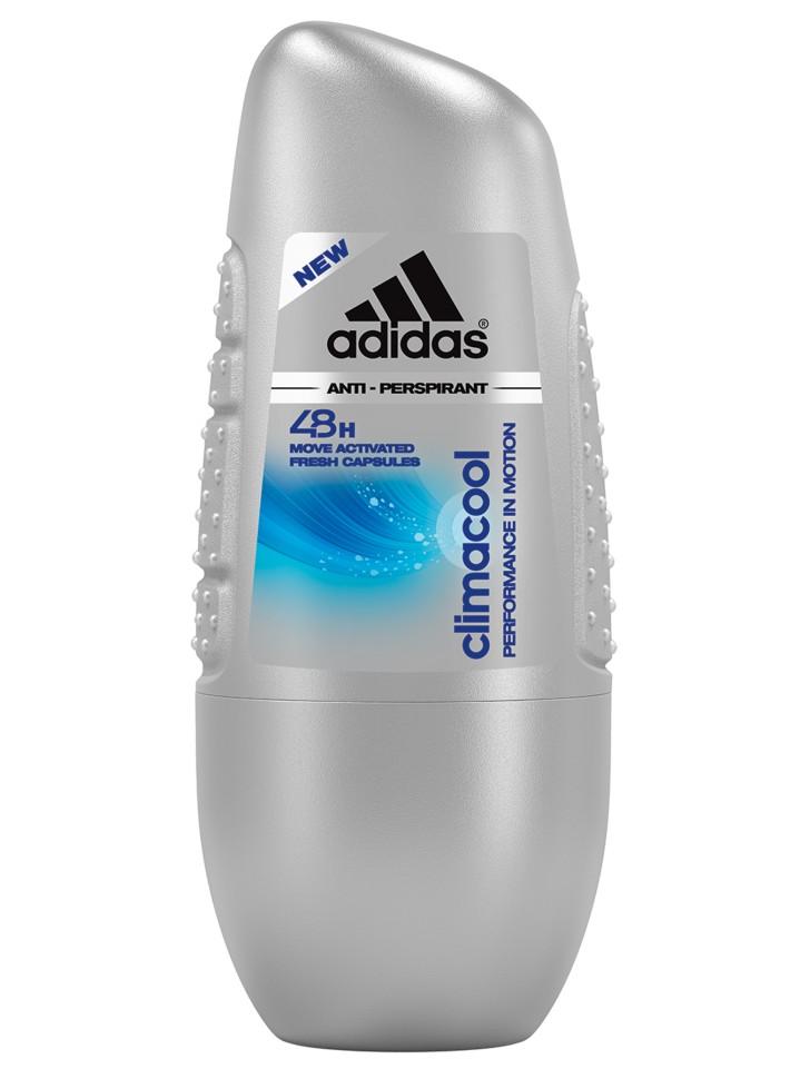 Adidas Anti-perspirant Roll-ons Male Роликовый антиперспирант 50 мл climacoolAdidas<br>Прошел дерматологическое тестирование - Не содержит спирт - Быстро сохнет. Минимизирует появление белых пятен на коже и одежде.<br>Состав:<br>Вода, алюминия хлорогидрат,ппг-15 стеарил эфир,стеарет-2, стеарет-20,аллантоин, гексил цинамаль, лимонен, линалол, циклопенталсилоксан , экстрат синегальской акации, этилгексилглицерин, силика диметилсилилат, ароматизатор.<br><br>Вес г: 183<br>Бренд : Adidas<br>Объем мл: 50<br>Тип дезодоранта : шариковый<br>Страна производитель : Испания