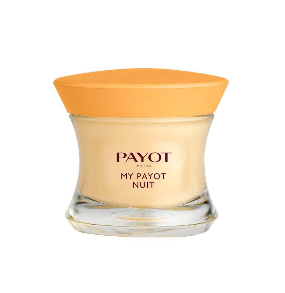 Payot My Payot Средство ночное восстанавливающее с активными растительными экстрактами 50 млPayot<br>Ночное крем для уставшей кожи любого типа питает и повышает защитные способности кожи, восстанавливает.<br>Способ применения:<br>Наносите крем вечером на кожу лица, шеи и декольте.<br>Состав:<br>AQUA (WATER), GLYCERIN, CAPRYLIC/CAPRIC TRIGLYCERIDE, MYRISTYL MYRISTATE, ETHYLHEXYL PALMITATE, CYCLOPENTASILOXANE, CETYL ALCOHOL, STEARYL ALCOHOL, PROPYLENE GLYCOL, PROPANEDIOL, CERA ALBA (BEESWAX), BUTYROSPERMUM PARKII (SHEA) BUTTER, CORYLUS AVELLANA (HAZEL) SEED OIL, POLYMETHYL METHACRYLATE, PEG-40 STEARATE, CYCLOHEXASILOXANE, GLYCERYL STEARATE, PEG-100 STEARATE, ALPHA-GLUCAN OLIGOSACCHARIDE, SESAMUM INDICUM (SESAME) OIL UNSAPONIFIABLES, TOCOPHERYL ACETATE, NIACINAMIDE, PANTHENOL, SODIUM ASCORBYL PHOSPHATE,, RETINYL PALMITATE, LYCIUM BARBARUM FRUIT EXTRACT, EUTERPE OLERACEA FRUIT EXTRACT, GLUTAMYLAMIDOETHYL INDOLE, MALACHITE EXTRACT, LACTOSE, BIFIDA FERMENT LYSATE, RHODOCHROSITE EXTRACT, ETHYLHEXYLGLYCERIN, TROMETHAMINE, ACRYLATES/C10-30 ALKYL ACRYLATE CROSSPOLYMER, GLYCERYL POLYACRYLATE, CAPRYLYL GLYCOL, 1,2-HEXANEDIOL, ALCOHOL DENAT, DISODIUM EDTA, HYDROXYETHYL ACRYLATE/SODIUM ACRYLOYLDIMETHYL TAURATE COPOLYMER, ISOHEXADECANE, POLYSORBATE 60, PARFUM (FRAGRANCE), BUTYLPHENYL METHYL<br><br>Вес г: 250<br>Бренд : Payot<br>Объем мл: 50<br>Тип кожи : все типы кожи<br>Консистенция : крем<br>Тип крема : питательный, восстанавливающий<br>Возраст : 35+, 40+<br>Эффект : выравнивание, эластичность<br>По времени суток : ночной уход<br>Страна производитель : Франция