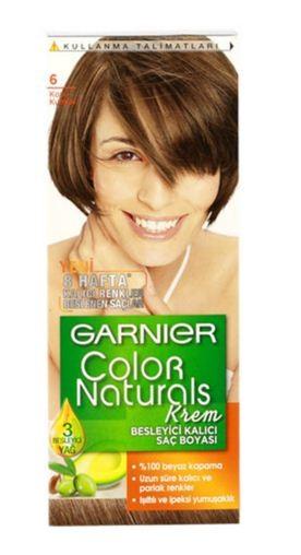 Garnier Краска для волос Color Naturals (6 Лесной орех)Краска для волос<br>Глубокое питание, насыщенный цвет, стойкость более 8 недельСпециальная формула краски для волос Garnier Color Naturals, обогащенная 3 маслами, проникает в самое сердце волоса и интенсивно питает его. Благодаря глубокому питанию волосы лучше насыщаются цветом и сохраняют его надолго. Крем-краска Гарньер Колор Нэчралс имеет кремообразную текстуру, которая легко наносится, не течет и имеет приятный аромат.<br>Результат: <br>Стойкость более 8-ми недель<br>Глубокое питание волос<br>100% закрашивание седины<br><br>Вес г: 150<br>Бренд : Garnier<br>Вид краски для волос : стойкая краска<br>Оттенок краски для волос : 6 Лесной орех