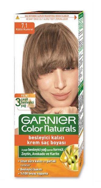 Garnier Краска для волос Color Naturals (7.1 Ольха)Краска для волос<br>Глубокое питание, насыщенный цвет, стойкость более 8 недельСпециальная формула краски для волос Garnier Color Naturals, обогащенная 3 маслами, проникает в самое сердце волоса и интенсивно питает его. Благодаря глубокому питанию волосы лучше насыщаются цветом и сохраняют его надолго. Крем-краска Гарньер Колор Нэчралс имеет кремообразную текстуру, которая легко наносится, не течет и имеет приятный аромат.<br>Результат: <br>Стойкость более 8-ми недель<br>Глубокое питание волос<br>100% закрашивание седины<br><br>Вес г: 150<br>Бренд : Garnier<br>Вид краски для волос : стойкая краска<br>Оттенок краски для волос : 7.1 Ольха