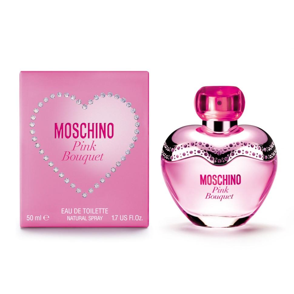 Moschino Pink Bouquet Туалетная вода 50 млMoschino<br>Это яркий, ошеломляющий взрыв энергии. Фейерверк блеска и изобилия. Ароматные лепестки переплетены в сияющем букете вечной весны. Эликсир эйфории юности, свежести и соблазна, яркие и вдохновляющие мечты от которых кружится голова. Великолепный букет цветов, словно по волшебству, окрашивает мир и чувства в розовый. Этот аромат для женщин с ярким характером, ценящих удовольствие и веселье превыше всего.<br>Особенности состава:<br>Фруктовый цветочный<br>Состав:<br>ароматическая композиция, дистиллированная вода, лимонен, этилгексилметок сицинамат, этилгексилсалицилат, бутилфенилме тилпропиналь,   гексилциннамал, линалул, гидрокси зогексил-3-циклогексен, бензилсалицилат, гераниол, цитрал, цитронелол, C.I. 17200, этиловый спирт  <br><br>Вес г: 212<br>Бренд : Moschino<br>Объем мл: 50<br>Возраст : 14+<br>Страна производитель : Италия<br>Вид Аромата : Фруктовый, цветочный<br>Шлейф : Персик, Имбирный пряник, Cosmone* (*синтетический<br>Верхняя Нота : Бергамот, Ананасовый сорбет, Малина<br>Верхняя Нота : Бергамот, Ананасовый сорбет, Малина