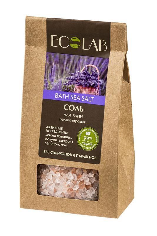 Ecolab Соль для ванны РелаксирующаяДля тела<br>Соли для ванн Эколаб содержат 99% ингредиентов растительного происхождения. Продукт не содержит парабенов и силиконов.Органический экстракт зеленого чая получают из листьев чайного куста, выращенного в естественных условиях и не подвергавшихся обработке химическими веществами.<br>Масло лаванды<br>Получают из цветов путем паровой дистилляции, растение родом из Европы. Состав лаванды насыщен полезными веществами, она содержит более 300 органических соединений.<br><br>Вес г: 400<br>Бренд : Ecolab<br>Страна производитель : Россия