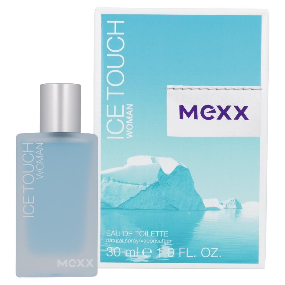 Mexx Ice Touch Woman Туалетная вода 30 млMexx<br>Руководство по выбору:<br>Дневной и вечерний аромат<br>Описание:<br>Ice Touch от Mexx - аромат, в котором флиртуют жар и холод: лед тает, давая волю чувствам, опьяняя и разжигая страсть. Женщина Mexx Ice Touch толкает мужчин на безумства, она настолько дерзкая, что заставляет лед расколоться просто от одного своего взгляда. Классификация аромата: фруктовый, цветочный, водный. Пирамида аромата: Верхние ноты: ежевика, ледяной чай с лимоном, розовый перец. Ноты сердца: листья мяты, белый цикламен, цветы апельсина. Ноты шлейфа: кедр, малина, мускус.<br>Особенности состава:<br>Освежающий эффект водного аккорда подчеркивается прохладой листьев мяты.<br>Мнение эксперта:<br>Легкий и искрящийся аромат с бодрящими морозными нотами свежести<br>Состав:<br>Alcohol Denat. . Aqua(Water) . Parfum(Fragrance) . Ethylhexyl Methoxycinnamate . Diethylamino Hydroxybenzoyl Hexyl Benzoate . Bht . Limonene . Butylphenyl Methylpropional . Benzyl Salicylate . Linalool . Alpha-Isomethyl Ionone . Hydroxyisohexyl 3-Cyclohexene Carboxaldehyde . Citronellol . Citral . Geraniol . Ci 60730(Ext. Violet 2) . Ci 42090(Blue 1) .<br><br>Вес г: 130<br>Бренд : Mexx<br>Объем мл: 30<br>Возраст : 14+<br>Страна производитель : Германия<br>Шлейф : Амбра, Кедр, Малина, Мускус<br>Верхняя Нота : Цитрусы, Ежевика, Розовый перец, Акватические ноты<br>Верхняя Нота : Цитрусы, Ежевика, Розовый перец, Акватические ноты