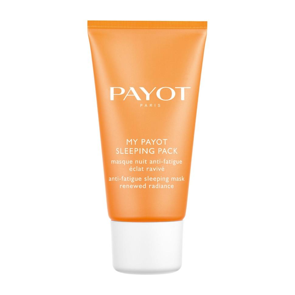 Payot My Payot Ночная энергетическая маска против усталости 50 млPayot<br>Маска стирает следы усталости, помогает коже лучше восстановиться в течение ночи, пробуждает сияние и заметно улучшает качество кожи.<br>Способ применения:<br>Наносить вечером в случае сильной усталости 2-3 раза в неделю вместо ночного крема.<br>Состав:<br>AQUA (WATER), BUTYLENE GLYCOL, GLYCERIN, DIMETHICONE, SODIUM POLYACRYLATE, PHENOXYETHANOL, PARFUM (FRAGRANCE), ALBIZIA JULIBRISSIN BARK EXTRACT, TOCOPHERYL ACETATE, DIMETHICONE/VINYL DIMETHICONE CROSSPOLYMER, PENTYLENE GLYCOL, PROPANEDIOL, AMODIMETHICONE, CARBOMER, DISODIUM EDTA, SODIUM HYDROXIDE, ASCORBYL TETRAISOPALMITATE, SODIUM HYALURONATE, PRUNUS ARMENIACA (APRICOT) FRUIT EXTRACT, EUTERPE OLERACEA FRUIT EXTRACT, LYCIUM BARBARUM FRUIT EXTRACT, SODIUM BENZOATE, CI 19140 (YELLOW 5), POTASSIUM SORBATE, CI 14700 (RED 4)<br><br>Вес г: 104<br>Бренд : Payot<br>Объем мл: 50<br>Тип кожи : все типы кожи<br>Консистенция маски : кремообразная<br>Часть лица : лицо<br>Возраст : 25+<br>По времени суток : ночной уход<br>Назначение маски : питательная, восстанавливающая, выравнивающая<br>Страна производитель : Франция