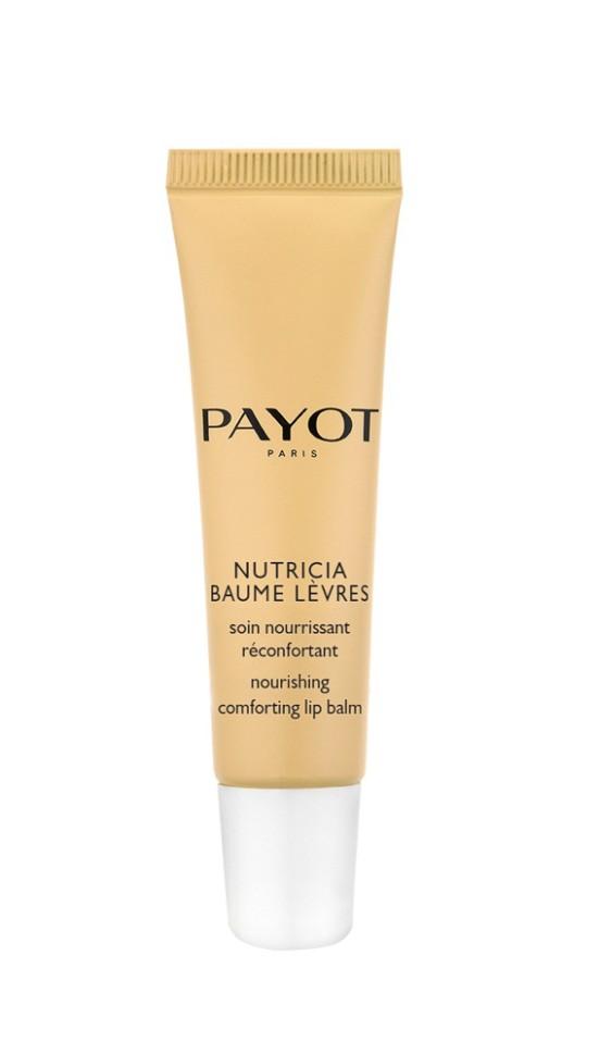 Payot Nutricia Бальзам для губ комфортный питательный с олео-липидным комплексом, 15 млPayot<br>Бальзам превосходно увлажняет, питает, защищает, интенсивно залечивает и успокаивает поврежденную потрескавшуюся кожу губ.<br>Способ применения:<br>Наносите бальзам на кожу губ при необходимости в любое время дня, используя конусовидный наконечник<br>Состав:<br>PARAFFINUM LIQUIDUM (MINERAL OIL), CERA MICROCRISTALLINA (MICROCRISTALLINE WAX) , PARAFFIN, HYDROGENATED POLYDECENE, TRIACONTANYL PVP, DIPENTAERYTHRITYL T E T R A H Y D R O X Y S T E A R A T E / - TETRAISOSTEARATE, DIPENTAERYTHRITYL PENTAISONONANOATE, SQUALANE, PARFUM (FRAGRANCE), MICA, LIMNANTHES ALBA (MEADOWFOAM) SEED OIL, PRUNUS AMYGDALUS DULCIS(SWEET ALMOND) OIL, AQUA (WATER), CI 77891 (TITANIUM DIOXIDE), SYNTHETIC WAX, RUBUS IDAEUS (RASPBERRY) SEED OIL, TOCOPHERYL ACETATE, ETHYLENE/PROPYLENE COPOLYMER, POLYETHYLENE, OPHIOPOGON JAPONICUS ROOT EXTRACT, BHT, PHENOXYETHANOL, ETHYLHEXYLGLYCERIN<br><br>Вес г: 53<br>Бренд : Payot<br>Объем мл: 15<br>Возраст : 16+<br>Упаковка помады : тюбик<br>Текстура помады : глянцевая<br>Свойства помады : гигиеническая<br>Страна производитель : Франция