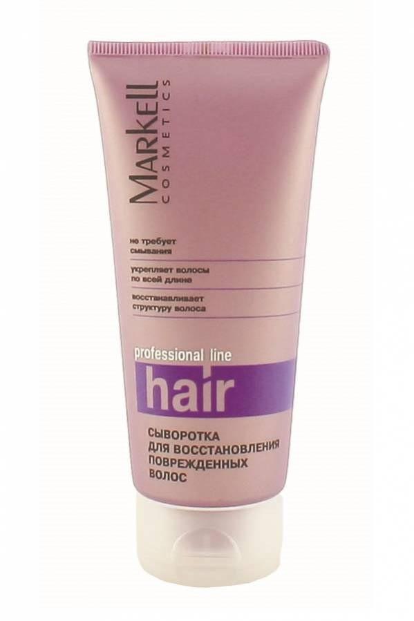 Markell Сыворотка для восстановления поврежденных волосMarkell<br>Инновационная формула восстанавливает даже сильно поврежденные волосы, делая их упругими, эластичными и блестящими. Сыворотка защищает от повреждений и облегчает расчесывание волос. Не оставляет чувства липкости и жирности на волосах. Kerasol™ обволакивает волосы, восстанавливает их структуру по всей длине. Предотвращает сухость и ломкость волос.<br>Силиконы обеспечивают кондиционирование волос, увлажняют, придают дополнительный объем и блеск. Д-пантенол укрепляет волосы по всей длине, регулирует влагоудерживающие свойства эпидермиса.<br><br>Вес г: 150<br>Бренд : Markell<br>Объем мл: 100<br>Тип волос : поврежденные, длинные и секущиеся<br>Действие : увлажнение, восстановление, для объема, легкое расчесывание, блеск и эластичность<br>Тип средства для волос : сыворотка/эссенция<br>Страна производитель : Белоруссия