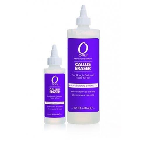 ORLY Гель для размягчения мозолей 488 млOrly<br>Профессиональный гель для удаления мозолей Callus Eraser справится с проблемой омозолелостей и натоптышей в считанные минуты. Основу средства составляет масло гвоздики, оказывающее на кожу ног антисептическое и восстанавливающее воздействие. Масло Алоэ Вера и витамины А и Е – снимают воспаление, а сорбитол и глицерин, входящие в состав препарата, способствуют сохранению влаги в клетках кожи, тем самым делая стопы идеально мягкими и гладкими.<br>Результат. Эффективное удаление мозолей.<br>Состав. Масло гвоздики, масло алоэ вера, витамины А и Е, сорбитол и глицерин.<br>Способ применения. Для правильного применения необходимо пропитать спонж гелем и нанести его на огрубевшие участки кожи: омозолелости и натоптыши. Затем обернуть ноги полотенцем и, в зависимости от степени грубости кожи, подождать от 3 до 5 минут. После чего обработать кожу ног педикюрной пилкой и остатки препарата смыть водой.<br><br>Вес г: 538<br>Бренд: ORLY<br>Объем мл: 488