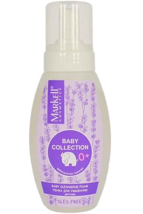 Markell Пенка для умывания детскаяMarkell<br>Мягкая воздушная пенка для умывания вашего малыша деликатно очищает чувствительную нежную детскую кожу, благодаря натуральным экстрактам лаванды и льна.Натуральный компонент Natural Extract активно увлажняет и кондиционирует кожу.<br>Экстракт лаванды обладает успокаивающим, балансирующим и укрепляющим свойствами.<br>Оказывает смягчающее воздействие на раздраженную кожу, делая кожу гладкой, нежной и бархатистой.<br>Экстракт льна успокаивает раздраженную кожу, оказывает заживляющее и противовоспалительное действие.<br>Нежный запах лаванды устраняет плаксивость и способствует крепкому сну.Применение: выдавить небольшое количество пенки на руку или мягкую мочалку и легкими массажными движениями нанести на лицо и ручки малыша. Тщательно сполоснуть водой.<br><br>Вес г: 280<br>Бренд : Markell<br>Объем мл: 250<br>Страна производитель : Белоруссия