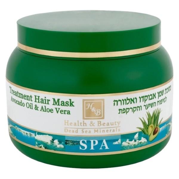 Health&amp;Beauty Маска для волос и кожи головы оздоравливающая с маслом Авокадо и АлоэHealth&amp;Beauty<br>Оздоравливающая маска для волос с маслом авокадо.Маска с эффектом экспресс увлажнения обладает высокими питательными и регенерирующими свойствами, эффективно воздействует на кутикулу волос, укрепляет волосы, придаёт им эластичность, блеск и объём, облегчает расчесывание и укладку, защищает от вредного воздействия горячего воздуха фена.В составе маски: масла авокадо, оливы, облепихи, хохоба, имбиря, моркови, алоэ, высокая концентрация витаминов – антиоксидантов А, В5 и Е, экстракты растений, минералы Мертвого моря, различные виды силикона и солнцезащитные фильтры.При постоянном использовании маски волосы становятся мягкими, упругими, блестящими и приобретают чудесный аромат.<br><br>Вес г: 300<br>Бренд : Health &amp; Beauty<br>Объем мл: 250<br>Тип волос : все типы волос<br>Действие : питание, укрепление, восстановление<br>Тип средства для волос : маска<br>Страна производитель : Израиль