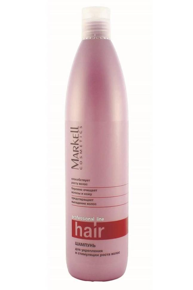 Markell Шампунь для укрепления и стимуляции роста волосMarkell<br>Профессиональный шампунь с инновационным комплексом активных компонентов для укрепления волос и стимулирования их роста наполняет волосы и кожу головы витаминами, укрепляет волосяные луковички, тем самым устраняя причину выпадения волос.- бережно очищает волосы и кожу- предотвращает выпадение волос- способствует росту волосПрименение: нанести шампунь на влажные волосы, взбить пену и помассировать 1-2 минуты. Тщательно промыть волосы.<br><br>Вес г: 550<br>Бренд : Markell<br>Объем мл: 500<br>Тип волос : все типы волос<br>Действие : укрепление, от выпадения волос, для роста волос<br>Тип средства для волос : шампунь<br>Страна производитель : Белоруссия