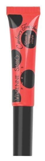 Vivienne Sabo лаковый блеск для губ Vinyl Lipgloss (№11 красный)Vivienne Sabo<br>Необыкновенно свежие и самые модные оттенки – это лаковый блеск для губ Vivienne Sabo из коллекции Vinyl! Формула обогащена компонентами, восстанавливающими упругость губ. Аппетитная капля с ароматом ягод при помощи тонкой кисточки прекрасно распределяется по поверхности губ и придаёт им соблазнительный глянцевый блеск.  Способ применения: нанесите необходимое количество блеска на губы и равномерно распределите. Наносите блеск от центра к краям, чтобы избежать излишне плотного слоя в уголках. Для максимального эффекта нанесите двойной слой в центре.<br><br>Вес г: 10<br>Бренд : Vivienne Sabo<br>Форма блеска : тюбик<br>Вид блеска : прозрачный<br>Объем мл: 8<br>Страна производитель : Швейцария