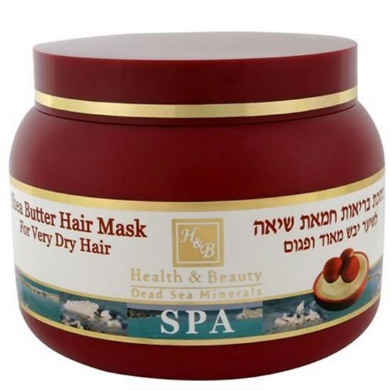 Health&amp;Beauty Маска для очень сухих волос на основе масла ШиHealth&amp;Beauty<br>Представленная вашему вниманию маска отвечает за восстановление пересушенных волос из-за химического влияния, либо иных факторов внешней среды. Первое же применение маски доказывает ее эффективность – уходят сухость и ломкость, к волосам возвращается здоровье и приятный внешний вид, они снова блестят, упруги, и их можно легко расчесать. Все это происходит, потому что в состав маски включили масло Ши и оливы в большом количестве, добавив солнцезащитных фильтров, витаминов – антиоксидантов (А, В5, Е), завершив все минеральными комплексами, полученными из солей Мертвого моря. Маска отвечает за питание кожи головы, за усиление и ускорение действия шампуня, за стимулирование роста волос, за восстановление волос после того, как они попали под негативное влияние солнечных лучей, ветров, сухости воздуха и частого применения фена, вместе с химической обработкой и злоупотреблением купания в воде с повышенным содержанием солей. Если ваши волосы пережили подобное – рекомендуем купить и попробовать маску для очень сухих волос.<br><br>Вес г: 300<br>Бренд : Health &amp; Beauty<br>Объем мл: 250<br>Тип волос : сухие<br>Действие : увлажнение, питание, укрепление, для роста волос<br>Тип средства для волос : маска<br>Страна производитель : Израиль