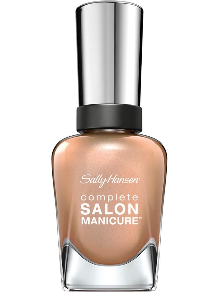 Sally Hansen Salon Manicure Keratin Лак для ногтей (216 золотистый)Sally Hansen<br>Руководство по выбору:<br>Выбирайте оттенок исходя из настроения, повода и типа внешности.Способ применения:<br>Наносить на очищенные от лака сухие ногти<br>Описание:<br>Комплекс Complete Salon Manicure сочетает семь эффектов в одном флаконе, плюс кисточку для безукоризненного покрытия, легкого нанесения и салонных результатов. Эта формула всё-в-одном обеспечивает до 10 дней устойчивого к сколам покрытия и включает основу, средство для роста, вдохновленный подиумом цвет, топ, финишное покрытие с гелевым сиянием, устойчивость к сколам и укрепляющее средство с кератиновым комплексом, делающим ногти до 64% сильнее. Это всё, что вам нужно, чтобы достичь профессиональных результатов при окрашивании ногтей на дому!<br>Состав:<br>BUTYL ACETATE , ETHYL ACETATE , NITROCELLULOSE , ACETYL TRISUTYL CITRATE , TOSYLAMIDE\EPOXY RESIN , ISOPROPYL ALCOHOL . STYRENE\ACRYLATES COPOLYMER , STEARALKONIUM BENTONITE , TRIPHENYL PHOSPHATE, ADIPIC ACID\NEOPENTYL GLYCOL\TRIMELLTICANHYDRIDE EAC COPOLYMER, AQUA\WATER\EAU, SILICA , DIACETONE ALCOHOL, ETOCRYLENE, CALCIUM ALUMINUM BOROSILICATE KAOLIN, CORALLINA OFFICINALIS EXTRACT , POLYVINYL BUTYRAL, PHOSPHORIC ACID, CETYL PEG\PPG – 10\1 DIMETHICONE, TOCOPHERYL ACETATE, NAUTYLALCOHOL, MEK, BENZOPHENONE – 1, TRIMETHYLPENTANEDIYL DIBENZOATE, POLYE THYLENE, HYDROLYZED CONCHIOLIN PROTEIN, CARTHAMUS TINCTORIUS (SAFFLOWER) SEED OIL, MACROCYSTIS PYRIFERA (KELP) EXTRACT , DIMETHICONE, TRIMETHYL SILOXYSILICATE, TINOXIDE<br><br>Вес г: 103<br>Бренд : Sally Hansen<br>Объем мл: 14<br>Вид лака : классичекий<br>Эффект на ногтях : перламутровый<br>Страна производитель : Испания