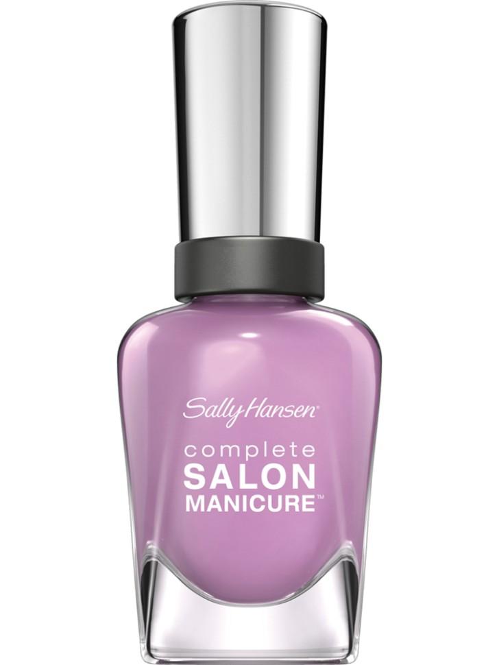 Sally Hansen Salon Manicure Keratin Лак для ногтей (406 фиолетовый)Sally Hansen<br>Руководство по выбору:<br>Выбирайте оттенок исходя из настроения, повода и типа внешности.Способ применения:<br>Наносить на очищенные от лака сухие ногти<br>Описание:<br>Комплекс Complete Salon Manicure сочетает семь эффектов в одном флаконе, плюс кисточку для безукоризненного покрытия, легкого нанесения и салонных результатов. Эта формула всё-в-одном обеспечивает до 10 дней устойчивого к сколам покрытия и включает основу, средство для роста, вдохновленный подиумом цвет, топ, финишное покрытие с гелевым сиянием, устойчивость к сколам и укрепляющее средство с кератиновым комплексом, делающим ногти до 64% сильнее. Это всё, что вам нужно, чтобы достичь профессиональных результатов при окрашивании ногтей на дому!<br>Состав:<br>BUTYL ACETATE , ETHYL ACETATE , NITROCELLULOSE , ACETYL TRISUTYL CITRATE , TOSYLAMIDE\EPOXY RESIN , ISOPROPYL ALCOHOL . STYRENE\ACRYLATES COPOLYMER , STEARALKONIUM BENTONITE , TRIPHENYL PHOSPHATE, ADIPIC ACID\NEOPENTYL GLYCOL\TRIMELLTICANHYDRIDE EAC COPOLYMER, AQUA\WATER\EAU, SILICA , DIACETONE ALCOHOL, ETOCRYLENE, CALCIUM ALUMINUM BOROSILICATE KAOLIN, CORALLINA OFFICINALIS EXTRACT , POLYVINYL BUTYRAL, PHOSPHORIC ACID, CETYL PEG\PPG – 10\1 DIMETHICONE, TOCOPHERYL ACETATE, NAUTYLALCOHOL, MEK, BENZOPHENONE – 1, TRIMETHYLPENTANEDIYL DIBENZOATE, POLYE THYLENE, HYDROLYZED CONCHIOLIN PROTEIN, CARTHAMUS TINCTORIUS (SAFFLOWER) SEED OIL, MACROCYSTIS PYRIFERA (KELP) EXTRACT , DIMETHICONE, TRIMETHYL SILOXYSILICATE, TINOXIDE<br><br>Вес г: 103<br>Бренд : Sally Hansen<br>Объем мл: 14<br>Вид лака : классичекий<br>Эффект на ногтях : перламутровый<br>Страна производитель : Испания