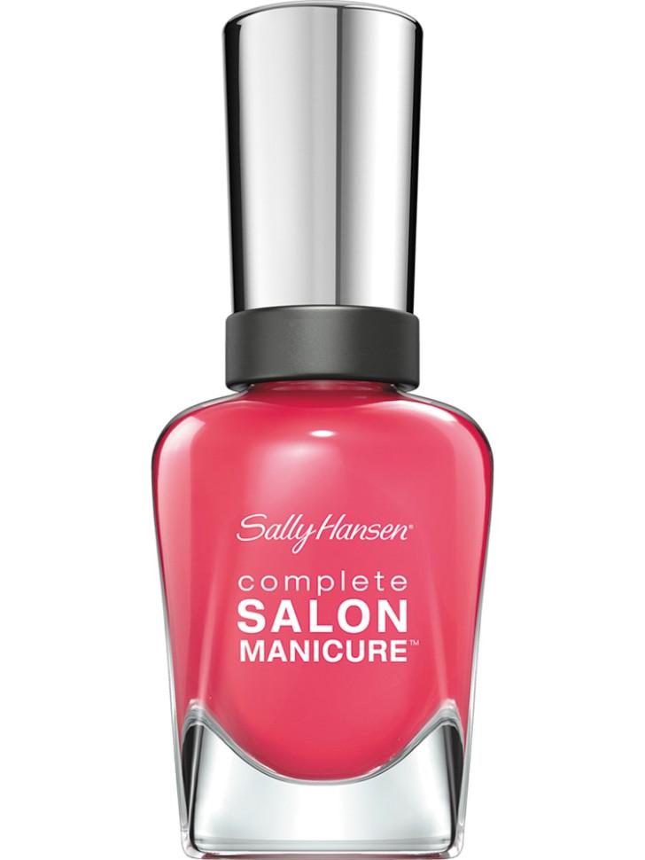 Sally Hansen Salon Manicure Keratin Лак для ногтей (540 розовый)Sally Hansen<br>Руководство по выбору:<br>Выбирайте оттенок исходя из настроения, повода и типа внешности.Способ применения:<br>Наносить на очищенные от лака сухие ногти<br>Описание:<br>Комплекс Complete Salon Manicure сочетает семь эффектов в одном флаконе, плюс кисточку для безукоризненного покрытия, легкого нанесения и салонных результатов. Эта формула всё-в-одном обеспечивает до 10 дней устойчивого к сколам покрытия и включает основу, средство для роста, вдохновленный подиумом цвет, топ, финишное покрытие с гелевым сиянием, устойчивость к сколам и укрепляющее средство с кератиновым комплексом, делающим ногти до 64% сильнее. Это всё, что вам нужно, чтобы достичь профессиональных результатов при окрашивании ногтей на дому!<br>Состав:<br>BUTYL ACETATE , ETHYL ACETATE , NITROCELLULOSE , ACETYL TRISUTYL CITRATE , TOSYLAMIDE\EPOXY RESIN , ISOPROPYL ALCOHOL . STYRENE\ACRYLATES COPOLYMER , STEARALKONIUM BENTONITE , TRIPHENYL PHOSPHATE, ADIPIC ACID\NEOPENTYL GLYCOL\TRIMELLTICANHYDRIDE EAC COPOLYMER, AQUA\WATER\EAU, SILICA , DIACETONE ALCOHOL, ETOCRYLENE, CALCIUM ALUMINUM BOROSILICATE KAOLIN, CORALLINA OFFICINALIS EXTRACT , POLYVINYL BUTYRAL, PHOSPHORIC ACID, CETYL PEG\PPG – 10\1 DIMETHICONE, TOCOPHERYL ACETATE, NAUTYLALCOHOL, MEK, BENZOPHENONE – 1, TRIMETHYLPENTANEDIYL DIBENZOATE, POLYE THYLENE, HYDROLYZED CONCHIOLIN PROTEIN, CARTHAMUS TINCTORIUS (SAFFLOWER) SEED OIL, MACROCYSTIS PYRIFERA (KELP) EXTRACT , DIMETHICONE, TRIMETHYL SILOXYSILICATE, TINOXIDE<br><br>Вес г: 103<br>Бренд : Sally Hansen<br>Объем мл: 14<br>Вид лака : классичекий<br>Эффект на ногтях : перламутровый<br>Страна производитель : Испания