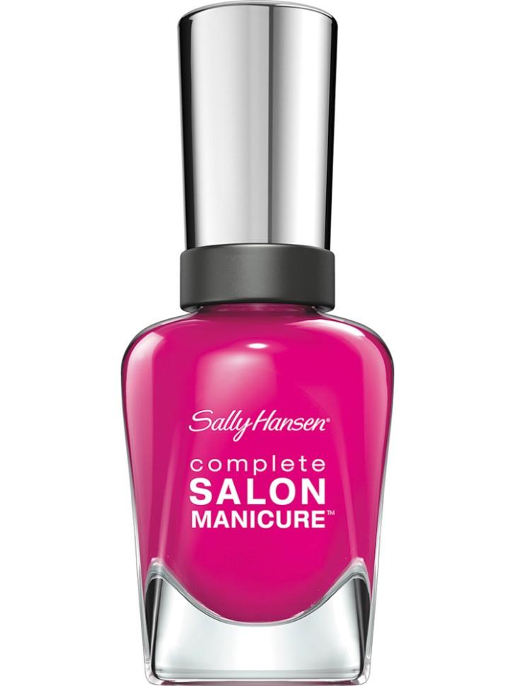 Sally Hansen Salon Manicure Keratin Лак для ногтей (542 фуксия)Sally Hansen<br>Руководство по выбору:<br>Выбирайте оттенок исходя из настроения, повода и типа внешности.Способ применения:<br>Наносить на очищенные от лака сухие ногти<br>Описание:<br>Комплекс Complete Salon Manicure сочетает семь эффектов в одном флаконе, плюс кисточку для безукоризненного покрытия, легкого нанесения и салонных результатов. Эта формула всё-в-одном обеспечивает до 10 дней устойчивого к сколам покрытия и включает основу, средство для роста, вдохновленный подиумом цвет, топ, финишное покрытие с гелевым сиянием, устойчивость к сколам и укрепляющее средство с кератиновым комплексом, делающим ногти до 64% сильнее. Это всё, что вам нужно, чтобы достичь профессиональных результатов при окрашивании ногтей на дому!<br>Состав:<br>BUTYL ACETATE , ETHYL ACETATE , NITROCELLULOSE , ACETYL TRISUTYL CITRATE , TOSYLAMIDE\EPOXY RESIN , ISOPROPYL ALCOHOL . STYRENE\ACRYLATES COPOLYMER , STEARALKONIUM BENTONITE , TRIPHENYL PHOSPHATE, ADIPIC ACID\NEOPENTYL GLYCOL\TRIMELLTICANHYDRIDE EAC COPOLYMER, AQUA\WATER\EAU, SILICA , DIACETONE ALCOHOL, ETOCRYLENE, CALCIUM ALUMINUM BOROSILICATE KAOLIN, CORALLINA OFFICINALIS EXTRACT , POLYVINYL BUTYRAL, PHOSPHORIC ACID, CETYL PEG\PPG – 10\1 DIMETHICONE, TOCOPHERYL ACETATE, NAUTYLALCOHOL, MEK, BENZOPHENONE – 1, TRIMETHYLPENTANEDIYL DIBENZOATE, POLYE THYLENE, HYDROLYZED CONCHIOLIN PROTEIN, CARTHAMUS TINCTORIUS (SAFFLOWER) SEED OIL, MACROCYSTIS PYRIFERA (KELP) EXTRACT , DIMETHICONE, TRIMETHYL SILOXYSILICATE, TINOXIDE<br><br>Вес г: 103<br>Бренд : Sally Hansen<br>Объем мл: 14<br>Вид лака : классичекий<br>Эффект на ногтях : перламутровый<br>Страна производитель : Испания