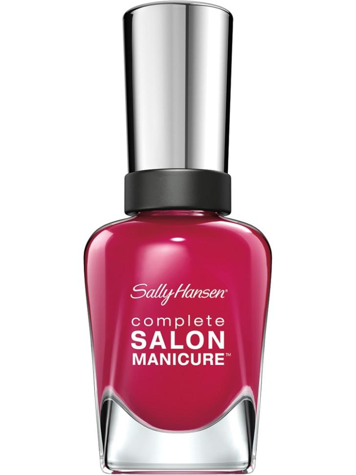 Sally Hansen Salon Manicure Keratin Лак для ногтей (543 малиновый)Sally Hansen<br>Руководство по выбору:<br>Выбирайте оттенок исходя из настроения, повода и типа внешности.Способ применения:<br>Наносить на очищенные от лака сухие ногти<br>Описание:<br>Комплекс Complete Salon Manicure сочетает семь эффектов в одном флаконе, плюс кисточку для безукоризненного покрытия, легкого нанесения и салонных результатов. Эта формула всё-в-одном обеспечивает до 10 дней устойчивого к сколам покрытия и включает основу, средство для роста, вдохновленный подиумом цвет, топ, финишное покрытие с гелевым сиянием, устойчивость к сколам и укрепляющее средство с кератиновым комплексом, делающим ногти до 64% сильнее. Это всё, что вам нужно, чтобы достичь профессиональных результатов при окрашивании ногтей на дому!<br>Состав:<br>BUTYL ACETATE , ETHYL ACETATE , NITROCELLULOSE , ACETYL TRISUTYL CITRATE , TOSYLAMIDE\EPOXY RESIN , ISOPROPYL ALCOHOL . STYRENE\ACRYLATES COPOLYMER , STEARALKONIUM BENTONITE , TRIPHENYL PHOSPHATE, ADIPIC ACID\NEOPENTYL GLYCOL\TRIMELLTICANHYDRIDE EAC COPOLYMER, AQUA\WATER\EAU, SILICA , DIACETONE ALCOHOL, ETOCRYLENE, CALCIUM ALUMINUM BOROSILICATE KAOLIN, CORALLINA OFFICINALIS EXTRACT , POLYVINYL BUTYRAL, PHOSPHORIC ACID, CETYL PEG\PPG – 10\1 DIMETHICONE, TOCOPHERYL ACETATE, NAUTYLALCOHOL, MEK, BENZOPHENONE – 1, TRIMETHYLPENTANEDIYL DIBENZOATE, POLYE THYLENE, HYDROLYZED CONCHIOLIN PROTEIN, CARTHAMUS TINCTORIUS (SAFFLOWER) SEED OIL, MACROCYSTIS PYRIFERA (KELP) EXTRACT , DIMETHICONE, TRIMETHYL SILOXYSILICATE, TINOXIDE<br><br>Вес г: 103<br>Бренд : Sally Hansen<br>Объем мл: 14<br>Вид лака : классичекий<br>Эффект на ногтях : перламутровый<br>Страна производитель : Испания