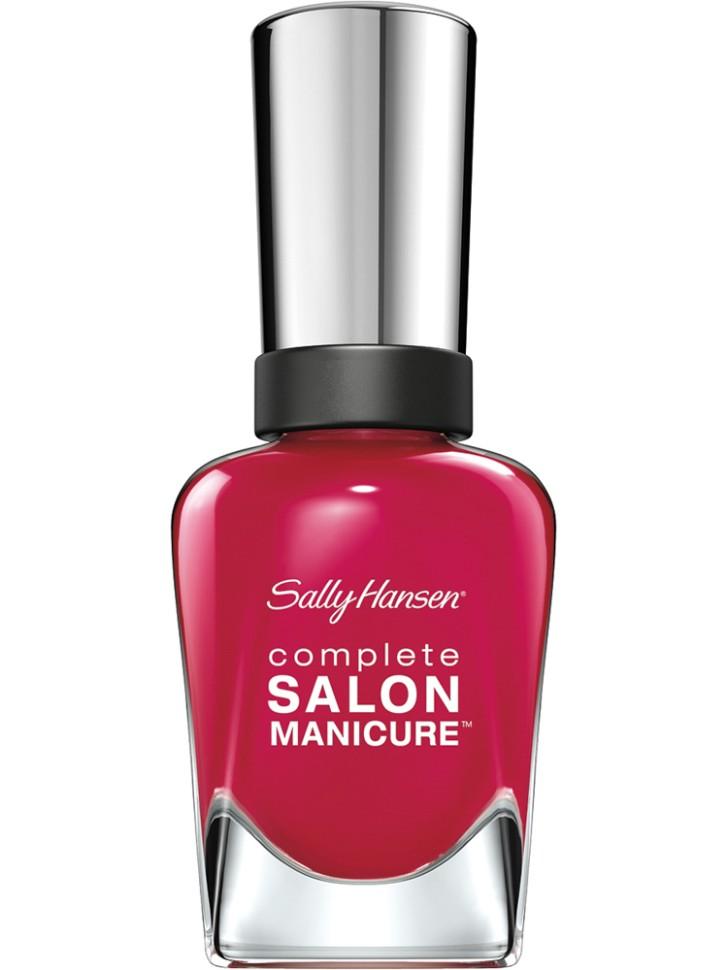 Sally Hansen Salon Manicure Keratin Лак для ногтей (565 малиновый)Sally Hansen<br>Руководство по выбору:<br>Выбирайте оттенок исходя из настроения, повода и типа внешности.Способ применения:<br>Наносить на очищенные от лака сухие ногти<br>Описание:<br>Комплекс Complete Salon Manicure сочетает семь эффектов в одном флаконе, плюс кисточку для безукоризненного покрытия, легкого нанесения и салонных результатов. Эта формула всё-в-одном обеспечивает до 10 дней устойчивого к сколам покрытия и включает основу, средство для роста, вдохновленный подиумом цвет, топ, финишное покрытие с гелевым сиянием, устойчивость к сколам и укрепляющее средство с кератиновым комплексом, делающим ногти до 64% сильнее. Это всё, что вам нужно, чтобы достичь профессиональных результатов при окрашивании ногтей на дому!<br>Состав:<br>BUTYL ACETATE , ETHYL ACETATE , NITROCELLULOSE , ACETYL TRISUTYL CITRATE , TOSYLAMIDE\EPOXY RESIN , ISOPROPYL ALCOHOL . STYRENE\ACRYLATES COPOLYMER , STEARALKONIUM BENTONITE , TRIPHENYL PHOSPHATE, ADIPIC ACID\NEOPENTYL GLYCOL\TRIMELLTICANHYDRIDE EAC COPOLYMER, AQUA\WATER\EAU, SILICA , DIACETONE ALCOHOL, ETOCRYLENE, CALCIUM ALUMINUM BOROSILICATE KAOLIN, CORALLINA OFFICINALIS EXTRACT , POLYVINYL BUTYRAL, PHOSPHORIC ACID, CETYL PEG\PPG – 10\1 DIMETHICONE, TOCOPHERYL ACETATE, NAUTYLALCOHOL, MEK, BENZOPHENONE – 1, TRIMETHYLPENTANEDIYL DIBENZOATE, POLYE THYLENE, HYDROLYZED CONCHIOLIN PROTEIN, CARTHAMUS TINCTORIUS (SAFFLOWER) SEED OIL, MACROCYSTIS PYRIFERA (KELP) EXTRACT , DIMETHICONE, TRIMETHYL SILOXYSILICATE, TINOXIDE<br><br>Вес г: 103<br>Бренд : Sally Hansen<br>Объем мл: 14<br>Вид лака : классичекий<br>Эффект на ногтях : перламутровый<br>Страна производитель : Испания