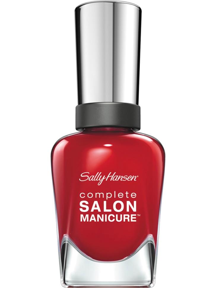 Sally Hansen Salon Manicure Keratin Лак для ногтей (570 красный)Sally Hansen<br>Руководство по выбору:<br>Выбирайте оттенок исходя из настроения, повода и типа внешности.Способ применения:<br>Наносить на очищенные от лака сухие ногти<br>Описание:<br>Комплекс Complete Salon Manicure сочетает семь эффектов в одном флаконе, плюс кисточку для безукоризненного покрытия, легкого нанесения и салонных результатов. Эта формула всё-в-одном обеспечивает до 10 дней устойчивого к сколам покрытия и включает основу, средство для роста, вдохновленный подиумом цвет, топ, финишное покрытие с гелевым сиянием, устойчивость к сколам и укрепляющее средство с кератиновым комплексом, делающим ногти до 64% сильнее. Это всё, что вам нужно, чтобы достичь профессиональных результатов при окрашивании ногтей на дому!<br>Состав:<br>BUTYL ACETATE , ETHYL ACETATE , NITROCELLULOSE , ACETYL TRISUTYL CITRATE , TOSYLAMIDE\EPOXY RESIN , ISOPROPYL ALCOHOL . STYRENE\ACRYLATES COPOLYMER , STEARALKONIUM BENTONITE , TRIPHENYL PHOSPHATE, ADIPIC ACID\NEOPENTYL GLYCOL\TRIMELLTICANHYDRIDE EAC COPOLYMER, AQUA\WATER\EAU, SILICA , DIACETONE ALCOHOL, ETOCRYLENE, CALCIUM ALUMINUM BOROSILICATE KAOLIN, CORALLINA OFFICINALIS EXTRACT , POLYVINYL BUTYRAL, PHOSPHORIC ACID, CETYL PEG\PPG – 10\1 DIMETHICONE, TOCOPHERYL ACETATE, NAUTYLALCOHOL, MEK, BENZOPHENONE – 1, TRIMETHYLPENTANEDIYL DIBENZOATE, POLYE THYLENE, HYDROLYZED CONCHIOLIN PROTEIN, CARTHAMUS TINCTORIUS (SAFFLOWER) SEED OIL, MACROCYSTIS PYRIFERA (KELP) EXTRACT , DIMETHICONE, TRIMETHYL SILOXYSILICATE, TINOXIDE<br><br>Вес г: 103<br>Бренд : Sally Hansen<br>Объем мл: 14<br>Вид лака : классичекий<br>Эффект на ногтях : перламутровый<br>Страна производитель : Испания