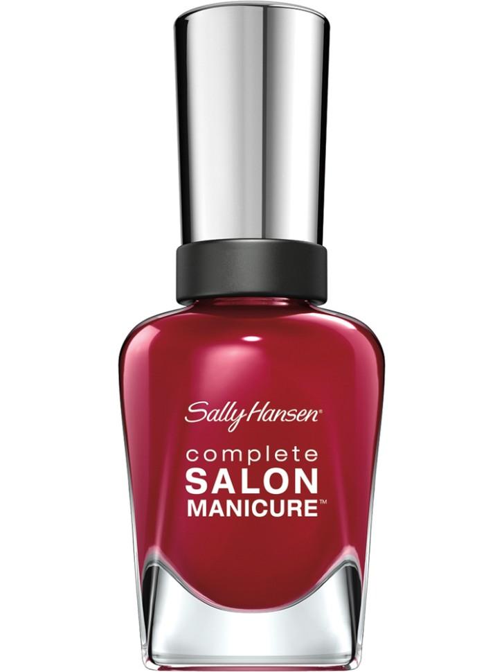 Sally Hansen Salon Manicure Keratin Лак для ногтей (57 малиновый)Sally Hansen<br>Руководство по выбору:<br>Выбирайте оттенок исходя из настроения, повода и типа внешности.Способ применения:<br>Наносить на очищенные от лака сухие ногти<br>Описание:<br>Комплекс Complete Salon Manicure сочетает семь эффектов в одном флаконе, плюс кисточку для безукоризненного покрытия, легкого нанесения и салонных результатов. Эта формула всё-в-одном обеспечивает до 10 дней устойчивого к сколам покрытия и включает основу, средство для роста, вдохновленный подиумом цвет, топ, финишное покрытие с гелевым сиянием, устойчивость к сколам и укрепляющее средство с кератиновым комплексом, делающим ногти до 64% сильнее. Это всё, что вам нужно, чтобы достичь профессиональных результатов при окрашивании ногтей на дому!<br>Состав:<br>BUTYL ACETATE , ETHYL ACETATE , NITROCELLULOSE , ACETYL TRISUTYL CITRATE , TOSYLAMIDE\EPOXY RESIN , ISOPROPYL ALCOHOL . STYRENE\ACRYLATES COPOLYMER , STEARALKONIUM BENTONITE , TRIPHENYL PHOSPHATE, ADIPIC ACID\NEOPENTYL GLYCOL\TRIMELLTICANHYDRIDE EAC COPOLYMER, AQUA\WATER\EAU, SILICA , DIACETONE ALCOHOL, ETOCRYLENE, CALCIUM ALUMINUM BOROSILICATE KAOLIN, CORALLINA OFFICINALIS EXTRACT , POLYVINYL BUTYRAL, PHOSPHORIC ACID, CETYL PEG\PPG – 10\1 DIMETHICONE, TOCOPHERYL ACETATE, NAUTYLALCOHOL, MEK, BENZOPHENONE – 1, TRIMETHYLPENTANEDIYL DIBENZOATE, POLYE THYLENE, HYDROLYZED CONCHIOLIN PROTEIN, CARTHAMUS TINCTORIUS (SAFFLOWER) SEED OIL, MACROCYSTIS PYRIFERA (KELP) EXTRACT , DIMETHICONE, TRIMETHYL SILOXYSILICATE, TINOXIDE<br><br>Вес г: 103<br>Бренд : Sally Hansen<br>Объем мл: 14<br>Вид лака : классичекий<br>Эффект на ногтях : перламутровый<br>Страна производитель : Испания