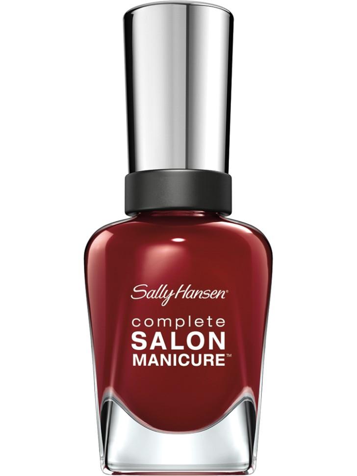 Sally Hansen Salon Manicure Keratin Лак для ногтей (610 бордовый)Sally Hansen<br>Руководство по выбору:<br>Выбирайте оттенок исходя из настроения, повода и типа внешности.Способ применения:<br>Наносить на очищенные от лака сухие ногти<br>Описание:<br>Комплекс Complete Salon Manicure сочетает семь эффектов в одном флаконе, плюс кисточку для безукоризненного покрытия, легкого нанесения и салонных результатов. Эта формула всё-в-одном обеспечивает до 10 дней устойчивого к сколам покрытия и включает основу, средство для роста, вдохновленный подиумом цвет, топ, финишное покрытие с гелевым сиянием, устойчивость к сколам и укрепляющее средство с кератиновым комплексом, делающим ногти до 64% сильнее. Это всё, что вам нужно, чтобы достичь профессиональных результатов при окрашивании ногтей на дому!<br>Состав:<br>BUTYL ACETATE , ETHYL ACETATE , NITROCELLULOSE , ACETYL TRISUTYL CITRATE , TOSYLAMIDE\EPOXY RESIN , ISOPROPYL ALCOHOL . STYRENE\ACRYLATES COPOLYMER , STEARALKONIUM BENTONITE , TRIPHENYL PHOSPHATE, ADIPIC ACID\NEOPENTYL GLYCOL\TRIMELLTICANHYDRIDE EAC COPOLYMER, AQUA\WATER\EAU, SILICA , DIACETONE ALCOHOL, ETOCRYLENE, CALCIUM ALUMINUM BOROSILICATE KAOLIN, CORALLINA OFFICINALIS EXTRACT , POLYVINYL BUTYRAL, PHOSPHORIC ACID, CETYL PEG\PPG – 10\1 DIMETHICONE, TOCOPHERYL ACETATE, NAUTYLALCOHOL, MEK, BENZOPHENONE – 1, TRIMETHYLPENTANEDIYL DIBENZOATE, POLYE THYLENE, HYDROLYZED CONCHIOLIN PROTEIN, CARTHAMUS TINCTORIUS (SAFFLOWER) SEED OIL, MACROCYSTIS PYRIFERA (KELP) EXTRACT , DIMETHICONE, TRIMETHYL SILOXYSILICATE, TINOXIDE<br><br>Вес г: 103<br>Бренд : Sally Hansen<br>Объем мл: 14<br>Вид лака : классичекий<br>Эффект на ногтях : перламутровый<br>Страна производитель : Испания
