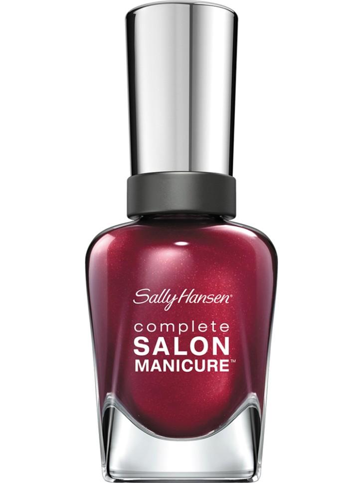 Sally Hansen Salon Manicure Keratin Лак для ногтей (620 бордовый)Sally Hansen<br>Руководство по выбору:<br>Выбирайте оттенок исходя из настроения, повода и типа внешности.Способ применения:<br>Наносить на очищенные от лака сухие ногти<br>Описание:<br>Комплекс Complete Salon Manicure сочетает семь эффектов в одном флаконе, плюс кисточку для безукоризненного покрытия, легкого нанесения и салонных результатов. Эта формула всё-в-одном обеспечивает до 10 дней устойчивого к сколам покрытия и включает основу, средство для роста, вдохновленный подиумом цвет, топ, финишное покрытие с гелевым сиянием, устойчивость к сколам и укрепляющее средство с кератиновым комплексом, делающим ногти до 64% сильнее. Это всё, что вам нужно, чтобы достичь профессиональных результатов при окрашивании ногтей на дому!<br>Состав:<br>BUTYL ACETATE , ETHYL ACETATE , NITROCELLULOSE , ACETYL TRISUTYL CITRATE , TOSYLAMIDE\EPOXY RESIN , ISOPROPYL ALCOHOL . STYRENE\ACRYLATES COPOLYMER , STEARALKONIUM BENTONITE , TRIPHENYL PHOSPHATE, ADIPIC ACID\NEOPENTYL GLYCOL\TRIMELLTICANHYDRIDE EAC COPOLYMER, AQUA\WATER\EAU, SILICA , DIACETONE ALCOHOL, ETOCRYLENE, CALCIUM ALUMINUM BOROSILICATE KAOLIN, CORALLINA OFFICINALIS EXTRACT , POLYVINYL BUTYRAL, PHOSPHORIC ACID, CETYL PEG\PPG – 10\1 DIMETHICONE, TOCOPHERYL ACETATE, NAUTYLALCOHOL, MEK, BENZOPHENONE – 1, TRIMETHYLPENTANEDIYL DIBENZOATE, POLYE THYLENE, HYDROLYZED CONCHIOLIN PROTEIN, CARTHAMUS TINCTORIUS (SAFFLOWER) SEED OIL, MACROCYSTIS PYRIFERA (KELP) EXTRACT , DIMETHICONE, TRIMETHYL SILOXYSILICATE, TINOXIDE<br><br>Вес г: 103<br>Бренд : Sally Hansen<br>Объем мл: 14<br>Вид лака : классичекий<br>Эффект на ногтях : перламутровый<br>Страна производитель : Испания