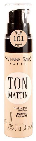 Vivienne Sabo матирующий тональный крем Ton mattin (№101 розово-бежевый)Vivienne Sabo<br>Что для вас утро? Утро – это прекрасное приподнятое настроение, много планов. Утро – это время, которое мы посвящаем себе… В этом тональном средстве – вся энергия Вашего дня!  Главное назначения тонального крема Ton Mattin - выровнять цвет лица, сделать его матовым, сохранив при этом, утреннюю свежесть кожи.  Деликатная текстура, благодаря входящим в состав силиконовым маслам, легко распределяется, и обеспечивает естественный матовый эффект в течение всего дня - теперь не нужно постоянно беспокоиться о собственной внешности!   Флакон с дозатором позволяет наиболее экономично использовать тональный крем. Изюминка матирующего тонального крема vivienne sabo Ton Mattin: Формула, обогащённая увлажняющими компонентами, основным из которых является гиалуроновая кислота, делает тональный крем Ton Mattin универсальным и подходящим не только для жирной, но и для сухой кожи.  Советы по применению: Равномерно распределите пальцами, спонжем или кистью на Т-зону и растушуйте по массажным линиям.  Состав: Экстракт масла Ши - Увлажняет, смягчает кожу, отвечает за регенерацию компонент, Гиалуроновая кислота - Устраняет сухость кожи, поддерживает ее в увлажненном состоянии, Витамин Е - Антиоксидант, защищает от негативного воздействия окружающей среды, борется с преждевременным старением кожи, Витамин С - Антиоксидант, способствует увлажнению кожи, Силиконовые масла - Обеспечивают легкое нанесение, придают «шелковистость» текстуре, УФ-фильтры - Защищают кожу от неблагоприятного воздействия УФ –лучей, Nylon-12 - Матирует кожу, заполняет неровности.  Срок годности: 30 месяцев<br><br>Вес г: 30<br>Бренд : Vivienne Sabo<br>Тип кожи : все типы кожи<br>Степень покрытия : средняя<br>Эффект от нанесения : увлажение<br>Тип тонального средства : крем<br>Страна производитель : Франция