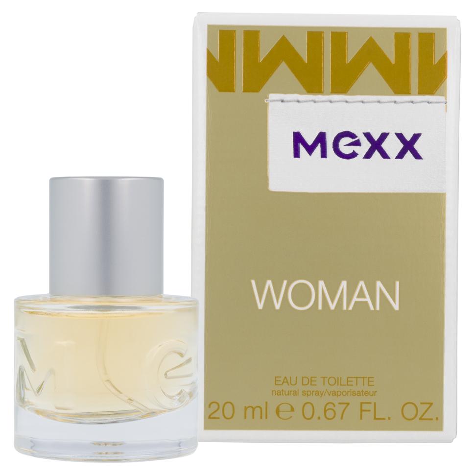 Mexx Woman Туалетная вода 20 млMexx<br>Руководство по выбору:<br>Дневной и вечерний аромат<br>Описание:<br>Woman - очень женственный и уверенный аромат. Классификация аромата: цветочный, восточный. Пирамида аромата: верхние ноты: бергамот, черная смородина, лимон, ноты сердца: роза, жасмин, ландыш, ноты шлейфа: сандал, кедр, амбра.<br>Особенности состава:<br>Женственная комбинация фруктовых, цветочных и древесных нот.<br>Мнение эксперта:<br>Мягкий и нежный аромат<br>Состав:<br>Alcohol Denat. . Aqua (Water) . Parfum (Fragrance) . Ethylhexyl Methoxycinnamate . Diethylamino Hydroxybenzoyl Hexyl Benzoate . Bht . Linalool . Hydroxycitronellal . Limonene . Citral . Ci 19140 (Yellow 5) . Ci 14700 (Red 4) . Ci 60730 (Ext. Violet 2) . Ci 17200 (Red 33) . Ci 42090 (Blue 1) .<br><br>Вес г: 114<br>Бренд : Mexx<br>Объем мл: 20<br>Возраст : 14+<br>Страна производитель : Германия<br>Вид Аромата : Цитрусовый<br>Шлейф : Амбра<br>Верхняя Нота : Бергамот, Черная смородина<br>Верхняя Нота : Бергамот, Черная смородина