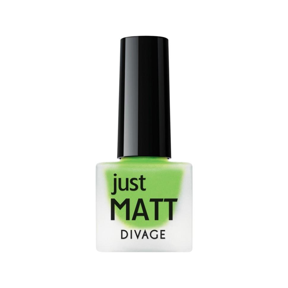 Divage Лак для ногтей Just Matt (5625 светло-зеленый)Divage<br>Легкая мягкая текстура лака позволяет выполнить маникюр с эффектом матового покрытия. Настоящая бархатная фантазия для твоего образа. Лак выравнивает неровности ногтевой пластины и позволяет создать идеальный маникюр с насыщенным цветом в один слой. Коллекция постоянно дополняется и обновляется новыми актуальными цветами. С оттенками коллекции JUST MATT легко воплотить в жизнь различные nail-дизайны, и каждый раз ваш маникюр будет смотреться стильно и по-новому!<br>Мнение эксперта:<br>Как продлить стойкость лака до 5 дней? DIVAGE готов поделиться секретом! Для стойкого и равномерного нанесения используй основу под лак, а для усиления матового эффекта и быстрого высыхания подойдёт топ - покрытие SO MATT от DIVAGE<br>Состав:<br>Бутилацетат, этилацетат, нитроцеллюлоза, изопропиловый спирт, формальдегидная смола, фталевый ангедрид, камфора, бензофенон 1, стеаралкониум. Может содержать: орлюмы - красный, белый, желто-зеленый, глиттеры полимерные, CI 77891, CI 77491, CI 15850, CI 19140, CI 77742, CI77499<br><br>Вес г: 47<br>Бренд : Divage<br>Объем мл: 7<br>Вид лака : классичекий<br>Эффект на ногтях : матовый<br>Страна производитель : Россия