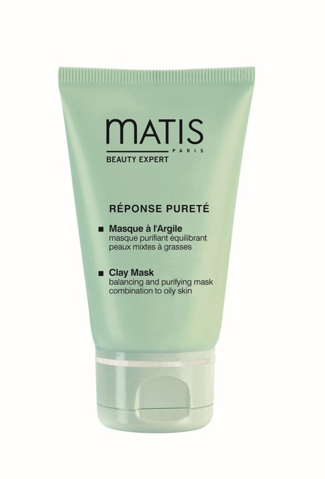 Matis Линия для жирной кожи Маска очищающая балансирующая 50 млMatis<br>Кремовая маска с желтой глиной. Регулирует деятельность сальных желез. Тщательно очищает и дезинфицирует кожу. Оказывает успокаивающее и противовоспалительное действие. Глубоко очищает поры, тонизирует кожу, насыщает ее кислородом. Выводит токсины.<br>Способ применения:<br>Нанесите толстым слоем на лицо и шею, избегая области вокруг глаз, на 15 минут. Смойте маску теплой водой, затем протрите кожу ватным диском, пропитанным Лосьоном очищающим для жирной кожи.<br>Особенности состава:<br>MatiSebo инновационная система (сочетание особых кислот с экстрактом африканского дерева Энантия Хлоранта), Желтая глина<br>Состав:<br>QUA (WATER), DIPROPYLENE GLYCOL, ILLITE, BUTYLENE GLYCOL, ISONONYL ISONONANOATE, CAPRYLIC/CAPRIC TRIGLYCERIDE, CYCLOHEXASILOXANE, KAOLIN, HYDROXYETHYL ACRYLATE/SODIUM ACRYLOYLDIMETHYL TAURATE COPOLYMER, SQUALANE, ENANTIA CHLORANTHA BARK EXTRACT, MICA, GLYCERYL STEARATE, 10-HYDROXYDECANOIC ACID, POLYSORBATE 60, SEBACIC ACID, 1,10-DECANEDIOL, OLEANOLIC ACID, PEG-100 STEARATE, AMMONIUM ACRYLOYLDIMETHYLTAURATE/VP COPOLYMER, PHENOXYETHANOL, CI 77891 (TITANIUM DIOXIDE), CAPRYLYL GLYCOL, PARFUM (FRAGRANCE), POTASSIUM PHOSPHATE, SORBITAN ISOSTEARATE, METHYLPARABEN, ETHYLPARABEN, PROPYLPARABEN, DIPOTASSIUM PHOSPHATE.<br><br>Вес г: 110<br>Бренд : Matis<br>Объем мл: 50<br>Тип кожи : комбинированная, жирная<br>Консистенция маски : грязевая/глиняная<br>Часть лица : лицо<br>Возраст : 18<br>По времени суток : дневной уход<br>Назначение маски : очищающая, противовоспалительная<br>Страна производитель : Франция