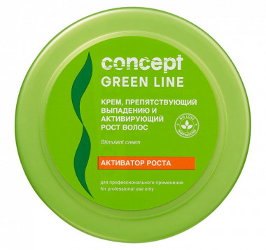 Concept Green Line Крем препятствующий выпадению и активирующий рост волос Hair Loss Reducing and Stimulant Cream 300 мл — Makeup market
