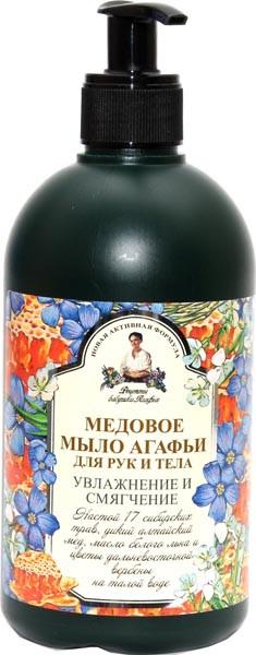 Рецепты Б.Агафьи Мыло жидкое для рук и тела медовое