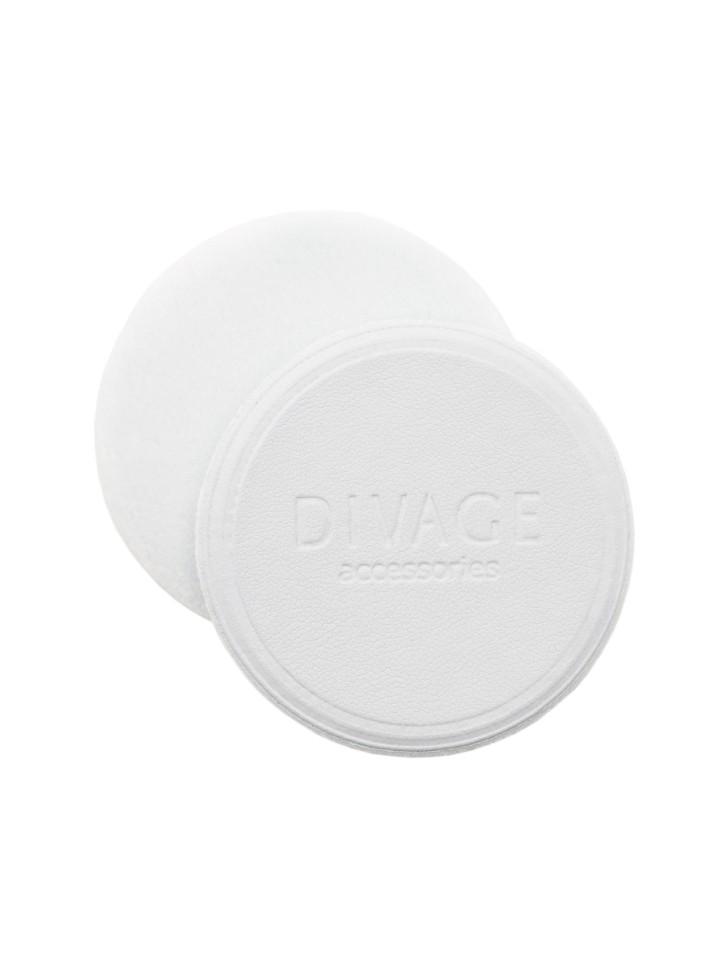 Divage Спонж для пудры круглый, белый d60 мм