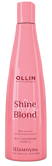 Ollin SHINE BLOND Шампунь с экстрактом эхинацеи 300мл