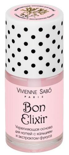 Vivienne Sabo укрепляющая основа для ногтей с кальцием и экстрактом фукуса Bon Elixir