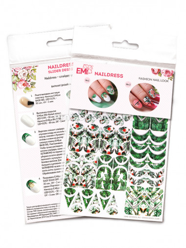 E.Mi Naildress Slider Design  Трафареты-слайдеры — Makeup market