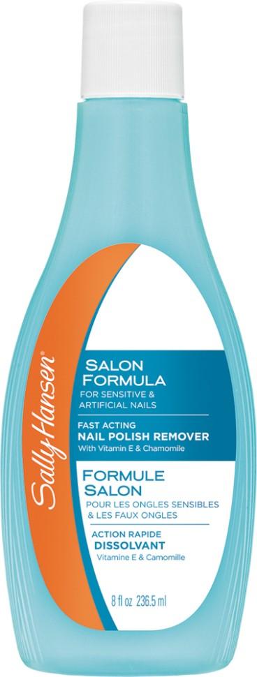 Sally Hansen Жидкость для снятия лака для искусственных и чувствительных ногтей salon formula for artificial  sensitive nails