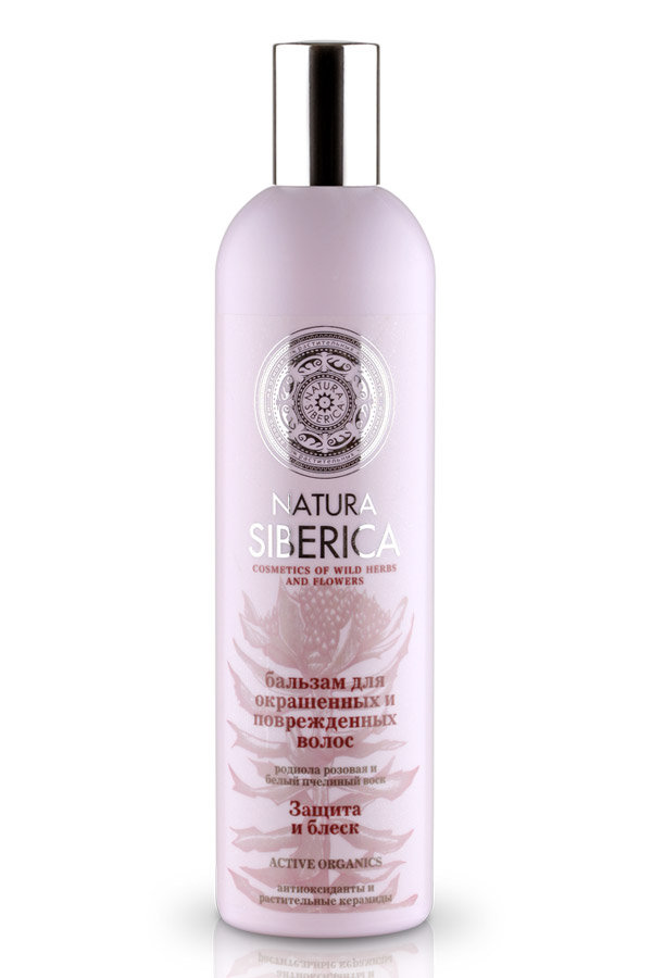 Натура Сиберика Бальзам Защита и Блеск для окрашенных и поврежденных волос
