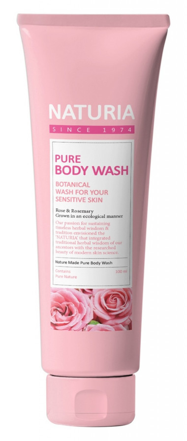 Naturia Гель для душа роза розмарин Pure body wash Rose & Rosemary 100 мл — Makeup market