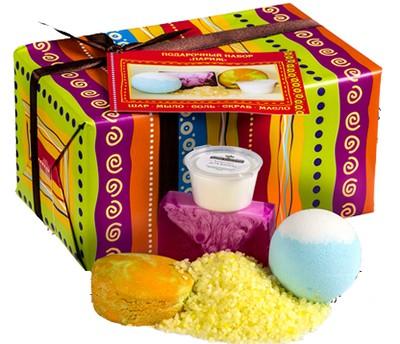 Кафе Красоты набор подарочный Париж (соль для ванны+мыло+бурлящий шар+крем для рук)