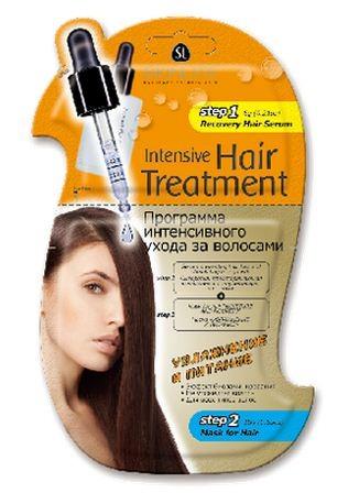 SKINLITE Программа интенсивного ухода за волосами УВЛАЖНЕНИЕ И ПИТАНИЕ (сыворотка+маска)