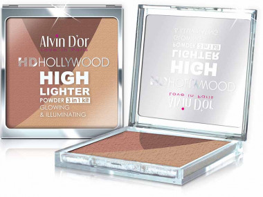 Alvin d'or  Хайлайтер пудровый GLOW Illuminating HD Hollywod — Makeup market