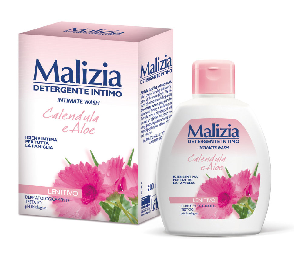 MALIZIA Гель для интимной гигиены Calendula and Aloe (Malizia)