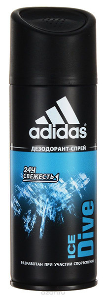 Adidas Део-спрей антиперспирант для мужчин Ice Dive — Makeup market