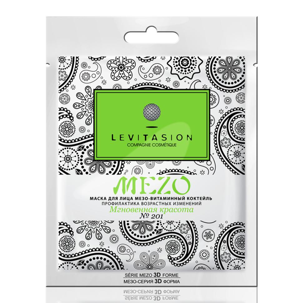 VILENTA Levitasion MEZO-маска тканевая №201 Мгновенная красота мезо-витаминный коктейль профилактика возрастных изменений (Vilenta)