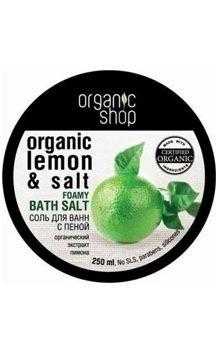 Organic shop соль-пена для ванн зеленый лимон 250м