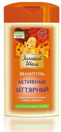 ЗОЛОТОЙ ШЕЛК Шампунь активный дегтярный для проблемной кожи