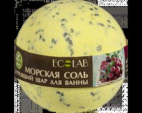Ecolab Бурлящий шар для ванны Черная смородина и Клюква