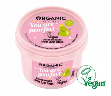 Organic shop Kitchen Крем для лица  Обновляющий You are pearfect  100 мл — Makeup market