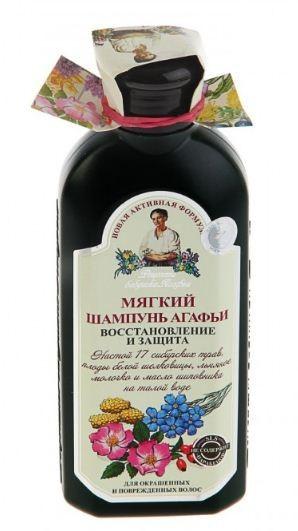 Рецепты Б.Агафьи Мягкий шампунь Агафьи для окрашенных волос